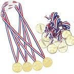 Josure 12 Stück Kinder Siegermedaillen Golden Medaillen für Kinder Preise