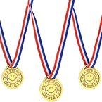 German Trendseller® - 4 x Gold Medaillen Smiley┃ Sieger Medallien ┃ Smiley´s ┃ Super Medallien ┃ Auszeichnung ┃ Podium ┃ Marathon ┃ Wettbewerb ┃ Turnier