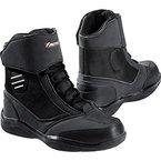 Motorradstiefel Firefox Leder schwarz für Damen, Herren & Kinder Gr. 33-46 | Motorradschuh kurz mit rutschfester Sohle