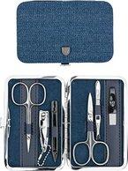 Drei Schwerter | Exklusives 6-teiliges Maniküre - Pediküre - Nagelpflege-Set / Etui | Qualität - Made in Solingen (725202) - NEU: Auf vielfachen Kundenwunsch zusätzlich bestückt mit einer Nagelschere!