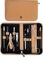 Drei Schwerter | Exklusives 12-teiliges Maniküre - Pediküre - Nagelpflege-Set / Etui | Qualität - Made in Solingen (520302)