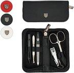 Drei Schwerter | Exklusives 5-teiliges Maniküre - Pediküre - Nagelpflege-Set / Etui | Qualität - Made in Solingen | ECHT LEDER | VERSCHIEDENE FARBEN (000132)