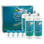 Solocare Aqua Pflegemittel Systempack (4 x 360ml) für weiche Kontaktlinsen