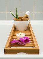 schöne Badewannenablage, Badewannenbrett, Badewannenauflage, Badewannenaufsatz aus Bambus 70cm x 14.5cm