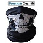 Premium Multifunktionstuch | Sturmmaske | Bandana | Schlauchtuch | Halstuch mit Totenkopf- Skelettmasken für Motorrad Fahrrad Ski Paintball Gamer Skull Mask