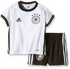 adidas Kinder Trikot UEFA EURO 2016 DFB Baby-Heimausrüstung, weiß/schwarz, 80, AA0125