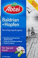 Abtei 4499812 Baldrian Hopfen Beruhigungsdragees für den Tag (120 Dragees)
