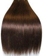 Clip-In-Extensions für komplette Haarverlängerung - hochwertiges Remy-Echthaar - 120 g - 50 cm - Dunkelbraun - 4