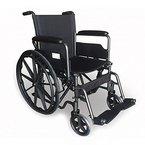 Rollstuhl S220 Stahl und autopropulsable 43 cm