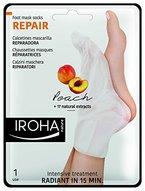 Iroha Fußsöckchenmaske -  Peach Socks - Reparing, 2er Pack (2 x 2 Stück)