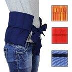 Hilfe bei Rückenschmerzen, Bandscheibenleiden! Hexenschuss Großes Wärmekissen mit Bändern- Körnerkissen - Nierenkissen - Wellnesskissen - Wohlfühlkissen- Füllung gereinigter Weizen - in 3 Farben (Blau)