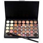 Yogogo Kosmetische Matte Lidschatten Creme Make-up Palette Schimmer Set, 40 Farbe + Pinsel Set