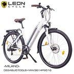 "NCM Milano 28"" Zoll Elektrofahrrad Herren/Damen Unisex Pedelec,E-Bike,Trekking Rad, 36V 250W 14Ah Lithium-Ionen-Akku mit PANASONIC Zellen, matt weiß"