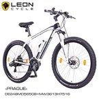 "NCM Prague 27,5"" Zoll Elektrofahrrad Mountainbike E-MTB E-Bike,Pedelec mit 250W Bafang Heckmotor 36V Li-Ion Akku mit 13Ah,weiß,schwarz"