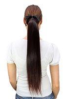 WIG ME UP ® - C9429-2T33 Haarteil ZOPF braun, Bändchen, Klammer 60cm