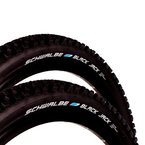 """2x Schwalbe Black Jack Fahrrad Reifen 26"""" 26 x 2,25 57-559 Pannenschutz B227i"""