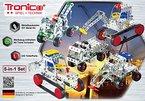 Tronico Metallbaukasten, 5 Modelle, 5-in-1, Baufahrzeuge, 243 Teile, bunte Teile, 4-farbige Aufbauanleitung, inklusive Werkzeug, ab 8 Jahren, Starter Set, Multibaukasten, rcee