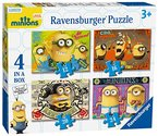 Ravensburger - Minions - 4 in 1 Kinderpuzzle (72 - Puzzleteile) [UK Import]