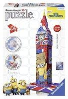 Ravensburger 12589 - Big Ben Minions - Bauwerke - 3D Puzzle, 216-teilig