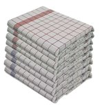10 Stück Geschirrtücher, 100% Baumwolle,  50 x 70 cm, kochfest, 5 Stk. Rot und 5 Stk. Blau