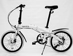 "Alu Faltrad 20"" Shimano 8 Gang mit Scheibenbremsen Klapprad Folding bike (weiß seidenmatt)"