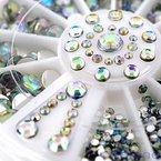 Neverland 3D Misch sein Nagel-Kunst-Funkeln Rhine Scheibe Dekoration Edelsteine Kristall Rad #6