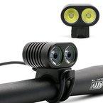 FivooTec BL-B1 2x CREE XM-L L2 LED Aluminum Fahrradlampe - Front Light Bicycle - Licht Scheinwerfer Beleuchtung für das Fahrrad - sehr klein - mit super Leistung