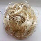 PRETTYSHOP Haarteil Haargummi Hochsteckfrisuren unordentlicher Dutt leicht gewell. Farbe: blond mix G28B