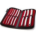 Purovi® Harnröhren Dilator Set   8 Hegar Stifte mit Doppelenden 3mm bis 18mm   Elegant und diskret im schwarzen Etui