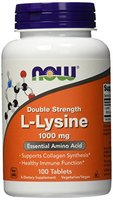 Now Foods L-Lysin, Double Strength, 1er Pack (1 x 100 Tabletten)