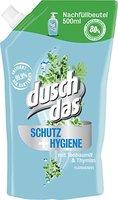 Duschdas Schutz und Hygiene Flüssigseife, Nachfüllbeutel, 6er Pack (6 x 500 ml)