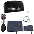 infimedix Diagnostik-Etui mit Blutdruckmessgerät inkl. 2 Armmanschetten und Stethoskop