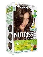 Garnier Nutrisse Creme Coloration Mittel-Braun 40 / Färbung für Haare für permanente Haarfarbe (mit 3 nährenden Ölen) - 1 Stück