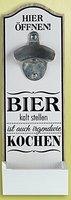 GILDE Wandflaschenöffner mit lustigem Spruch, 6x10x30 cm