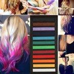 Haarkreide 12 Farben Haar Kreide Haarfarbe Farbe Faerben Haartoenung Hairchalk einfaerben von Haare