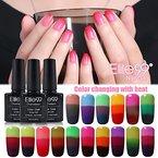 Elite99 UV Nagellack Gel Polish Chamäleon Thermo Effekt Farbwechselnd Nail Art Geschenk (10x Stueck)