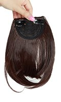 Damen Pony-Haarteil mit Klemme, 20 cm, Schwarz / Blond / Braun, 1 Stück