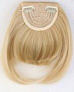 S-noilite® Clip in Pony Extension natürliche Haarverlängerung Haarteil Bang Perücke Golden Mix Bleichmittel Blond