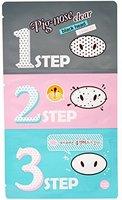 Holika Holika® - Pig Nose Clear - 1 x Black Head 3-Step Kit - Nasenpflaster gegen Mitesser und Unreinheiten - Gesichtsreinigung