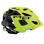 MET Fahrrad Helm Terra MTB abnehmbares Visier matt Mountain Bike verstellbar leicht, 3HELM91UN, Farbe Schwarz Neongelb