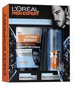 L'Oreal Men Expert Geschenkset Hydra Energy X für Gesicht 3-Tage-Bart Männerpflege - inkl. Reinigungsgel für Gesicht und 3-Tage-Bart und Feuchtigkeitsfluid für den 3-Tage-Bart Geschenk Beauty