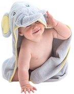 Little Tinkers World Baby-Badetuch / Kapuzenhandtuch im Elefanten-Design - 100% Flauschige Baumwolle - Perfekt als Geschenk für Neugeborene, Säuglinge, Kleinkinder, Mädchen & Jungen, 75x75 cm