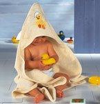 Baby Butt Kapuzenbadetuch Frottee creme Größe 100x100 cm