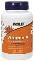 Now Foods, Vitamin A (Retinol), 25.000 IU, 250 Weichkapseln