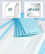 Krankenunterlage 6-lagig - Zellstoff - 40 x 60 cm - 25 Stück - der Klassiker von rezzu.®