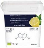 Zitronensäure 2.5 Kg, Reine Lebensmittelqualität, 100% Natürlich, E330 pulver, ökologischen entkalker, NortemBio, CE Produkt