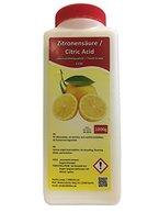 1000g Zitronensäure 1 Kg in wiederverschließbarer Flasche Lebensmittelqualität 1kg E330 Entkalker Kalklöser kristallin