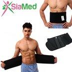 PREMIUM Taillengürtel Taillenformer Bauchweggürtel für Männer und Frauen | einfach gut Aussehen | elastisch & atmungsaktiv | Slimming waist belt mit ZUFRIEDENHEITSGARANTIE (schwarz, 85 cm)