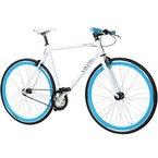 28' Fixie Singlespeed Bike Viking Blade 5 Farben zur Auswahl, Farbe: Weiß / Blau; Rahmengrösse: 56 cm