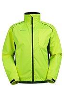 Mountain Warehouse Adrenaline Iso-Viz Herren Fahrradjacke Hohe Sichtbarkeits Schutz reflektierend atmungsaktiv Sportjacke Radsport Laufen Joggen Gelb X-Large